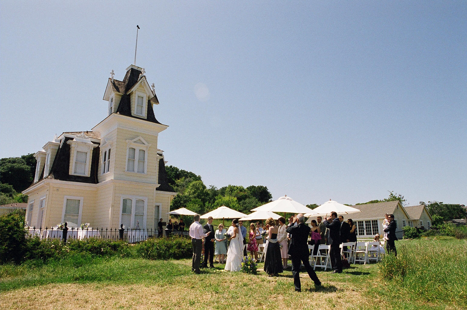 Wedding Ceremony on the Lyford House lawn
